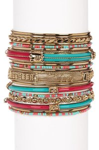 Amrita Singh Amrita Singh Monte Carlo Bangle Set 8 Turquoise-Red