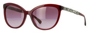 Chanel 5307 B Bijou Burgundy Red CC Logo Crystal Strass Cat Eye Cateye