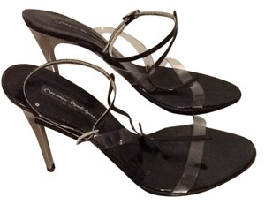 Mario Bologna Clear, black, silver heel Pumps