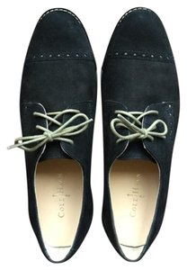 Cole Haan Lunargrand Oxfords Suede Wingtip Black Flats