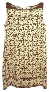 Diane von Furstenberg short dress brown cream on Tradesy
