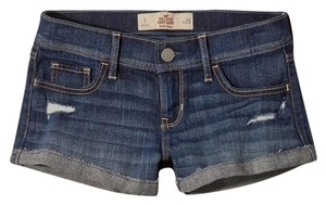 Hollister Mini/Short Shorts Destroyed Dark Wash