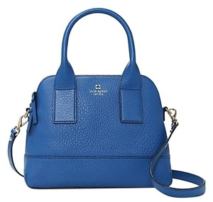 Kate Spade Leather Gold Hardware New York Tote in Bluebell