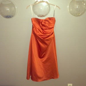 Alfred Angelo Orange Formal Bridesmaid/Mob Dress Size 12 (L)