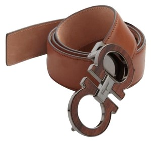 Salvatore Ferragamo Salvatore Ferragamo Leather Belt Brown Size 34