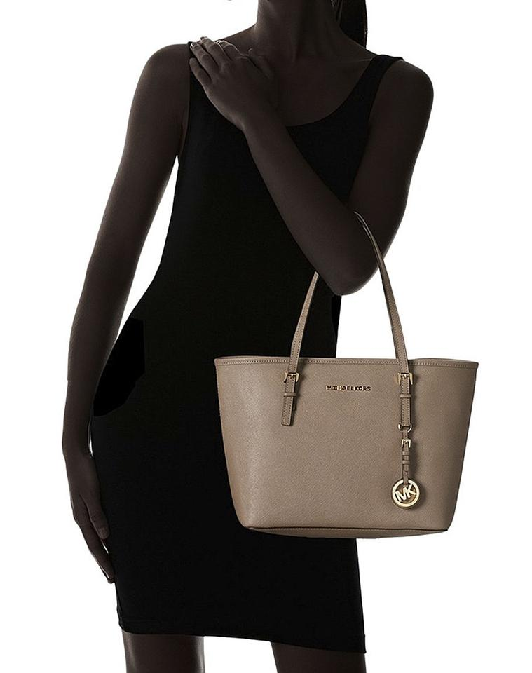 e48e575e4e267d ... coupon for michael kors jet set small travel tote saffiano dark dune  saffiano 0bea8 7c980