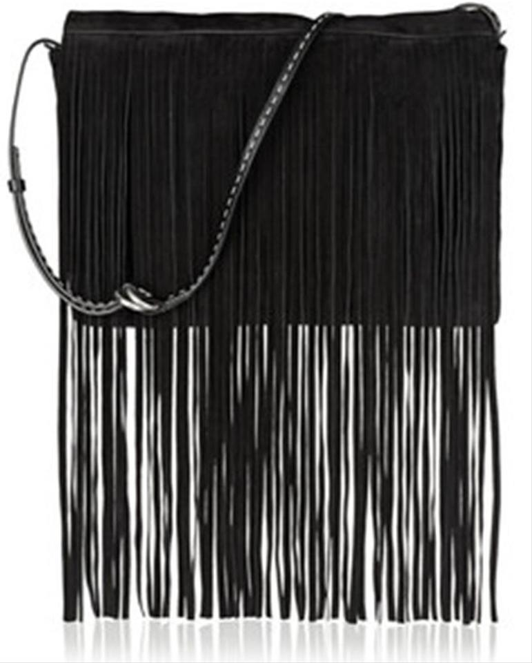 fc4e265db33c Michael Kors Fringe Clutch Mk Suede Leather Cross Body Bag Image 0 ...