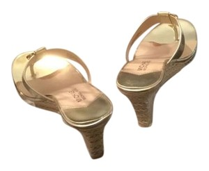 Michael Kors Sandals Like New Glod Wedges