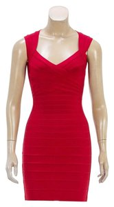 Hervé Leger short dress Red on Tradesy
