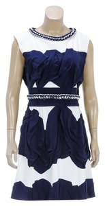Chanel short dress White/Blue on Tradesy