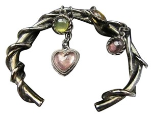 Jean-Paul Gaultier Authentic Gaultier Oxidized Silver Glass & Crystal Charms Bracelet