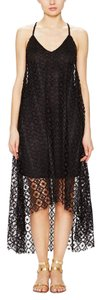 Black Maxi Dress by T-Bags Los Angeles Crochet
