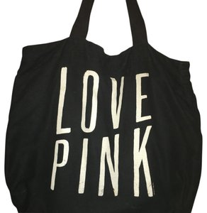 PINK Tote in Black