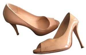 Butter Cleo Peep Toe Nude Patent Pumps