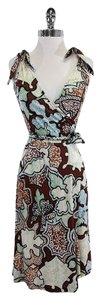 Diane von Furstenberg short dress Brown Watercolor Wrap Wrap on Tradesy