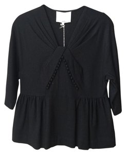 3.1 Phillip Lim Nwt Pom Pom Inverted-v Gathered Waist Sweater