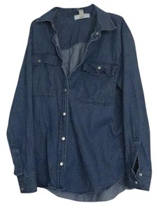 MICHAEL Michael Kors Button Down Shirt Medium denim wash