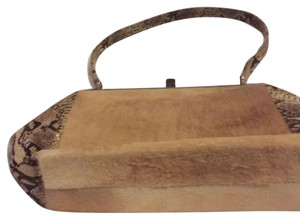 Satchel in Beige And Brown