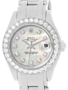 Rolex Rolex Pearlmaster Masterpiece 18K White Gold Diamond Watch 80299
