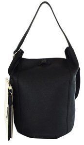 Furla Black Leather Travel Business Hobo Bag