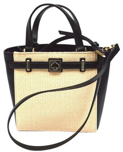 Kate Spade Leather Straw Cross Body Bag
