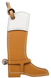 Hermès Paddock Botte Equestrian Boot Sable and Craie Bag Charm