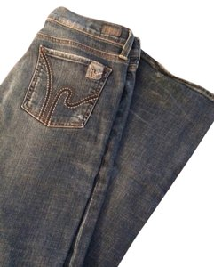 Citizens of Humanity Stretch Low Waist 31x33 Embroidered Details Boot Cut Jeans-Distressed