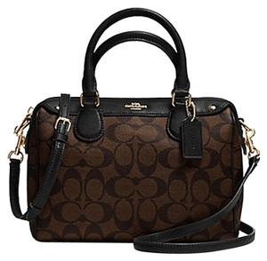 Coach F36689 Bennett Crossbody 36702 Satchel in brown Black gold