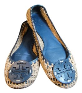 Tory Burch Navy Blue/Tan Flats