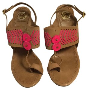 Tory Burch Tan/pink Sandals