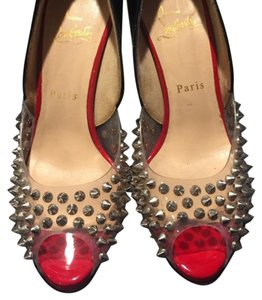 Christian Louboutin Spikes Black, red Pumps