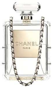 Chanel Perfume Bottle Clear Clutch