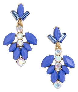 J.Crew NEW!!! TAGS CRYSTAL BLUE GEMSTONE DANGLE EARRINGS!