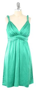 Alice & Trixie short dress Kelly Green Pebbled Silk Charmeuse on Tradesy