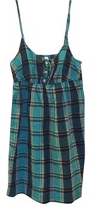 Old Navy short dress Plaid - Green and Blue on Tradesy
