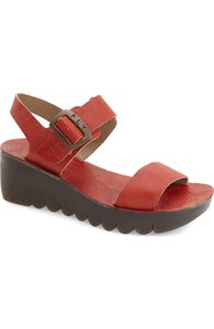 FLY London Current Yost Wedge Red Sandals