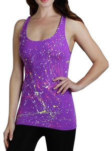 Nikibiki Paint Splatter Neon Fun Top Purple