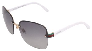 Gucci GG 2897 S Dark Gray Shade and White Frame Sunglasses with Box
