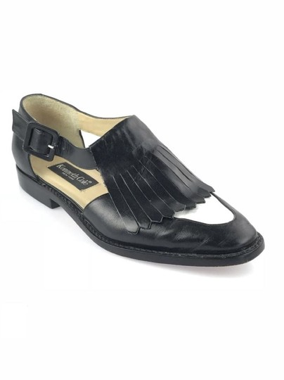 Kenneth Cole Leather Kiltie Two-tone Vintage Loafer Black/White Flats Image 11