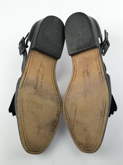Kenneth Cole Leather Kiltie Two-tone Vintage Loafer Black/White Flats Image 4