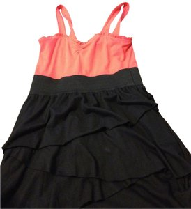 Derek Heart short dress orange/black on Tradesy