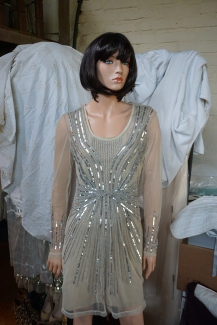 H&M Limited Edition Beaded Sequin Formal Dress Image 3