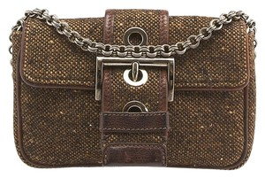 Prada Tweed Small Shoulder Bag