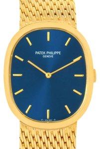 Patek Philippe Patek Philippe Golden Ellipse 18k Yellow Gold Blue Dial Watch 3748