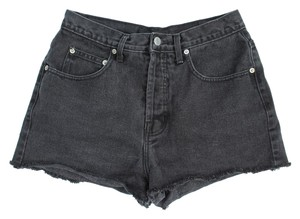Guess High Rise Vintage Cutoff Cutoffs Denim Shorts-Dark Rinse