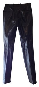 John Bartlett leather pants Straight Pants Black soft lamb leather