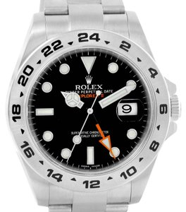 Rolex Rolex Explorer II Automatic Black Dial Watch 216570 Box Papers