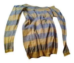 T Shirt yellow and gray striped