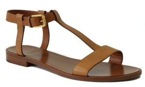 Saint Laurent Ysl 342332 Nu Pied Leather Flat Brown Sandals