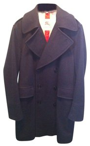 Burberry Men's Blue Pea Coat